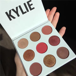 Wholesale Make Up Kit Shadows - 9 Colors Kylie Cosmetics Jenner Kyshadow eye shadow Palettes Kit Palettes BRONZE BURGUNDY Purple Holiday Eyeshadow Palette Make Up