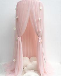 Letto ragazzi stanza online-Princess Bed Pink Canopy Filato per zanzariere Play Tent Biancheria da letto per bambini che giocano a leggere Dome Rete Tenda Baby Boys and Girls Sala giochi