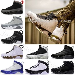 Barato basquete bola sapatos on-line-2018 Cheap New 9 IX Men Basquete sapatos brancos Atletismo Tênis Mens Trainers 9s bola Basket desporto ao ar livre mulheres calça o tamanho US 7-13