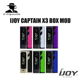 Wholesale x3 battery - Elektronik Sigara Original IJOY Captain X3 BOX Mod 324W Vaper Vape with 3PCS Triple 20700 Battery Match Captain X3 Subohm Tank 100% Original