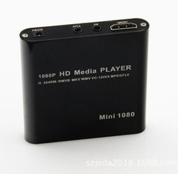 Wholesale Hd Audio Ports - Mini 1080P UISB SD MMC HD HDMI A V Port TV Audio Multi Media Player-MKV RM RMVB SD USB HDD players