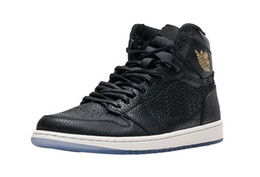 Wholesale Gym City - Air Retro 1 OG LA X City of Flight Man Basketball Shoes Sneakers Balck Gold White Sports Sneaker All-Star Los Angeles with Orginal Box