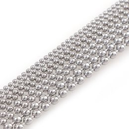 wholesale steel balls 3mm Promo Codes - 5 Meters Stainless Steel Beaded Ball Chain Bulk Jewelry Chains Dia 1.5mm 2mm 2.4mm 3mm For Necklaces Jewelry Making Supplies
