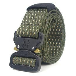 Wholesale tactical belt buckles wholesale - Men Tactical Belt SWAT  Army Equipment Nylon Waist Belt Metal Buckle Carry Survival Combat PolWork Gear