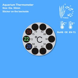 Wholesale Tank Thermometer - Free Shipping by DHL 10pcs lot Aquarium Thermometer for Fish Tank, 18-36 degree in Celsius and Fahrenheit scale