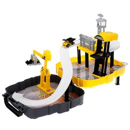 Wholesale Road Track - Portable Backpack Assembled Car Railway Toy Glow in the Dark magic Flexible Railway Cars toy car Race Track Create A Road Deluxe