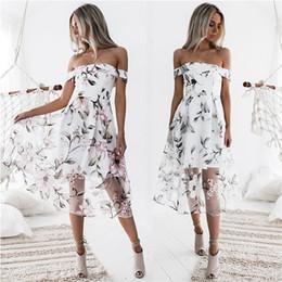 ropa blanca playa moda mujer Rebajas Ropa de mujer 2018 Vestido de lino Túnicas Mujer Ropa de verano Zanzea Moda Vestido de playa blanco Ropa de verano Malla Slash Vestido de oficina de cuello