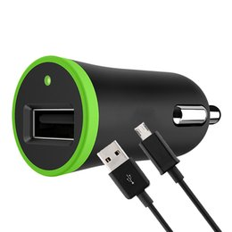 câbles plus légers Promotion Kit 2 en 1 pour adaptateur de chargeur de voiture USB simple Prise allume-cigare 2.1A avec câble de charge Câble de données 1,2 m pour CellPhone