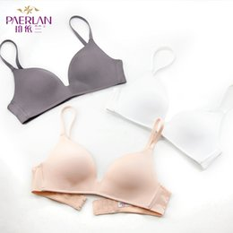 69e0613580 PAERLAN Fall Wire Free Push Up Sexy Thin Three Quarters 3 4 Cup Bra None  Comfortable Seamless One-Piece Solid Women Underwear
