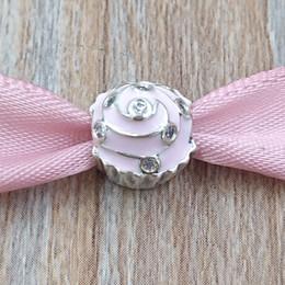 Stile cupcakes online-Autentico 925 Sterling Silver Beads dolce fascino Cupcake Adatto europeo Pandora gioielli stile collana bracciali 791891EN68