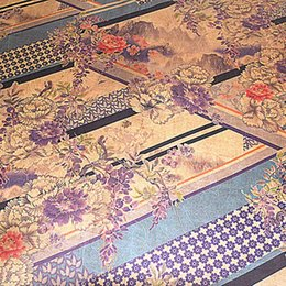 Wholesale Silk Fabric Wholesalers - 100% silkworm silk satin mountain flower abstract painting cheongsam for men and women with silk fabrics
