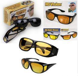 f58bb2432d HD Night Vision Driving Sunglasses Men Yellow Lens Over Wrap Around Glasses  Dark Driving UV400 Protective Goggles Anti Glare