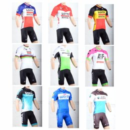 Wholesale Green Cycling Jersey Bibs - 2018 Tour de France Cycling Lotto DATA BORA QUICK STEP AG2R New Team jersey bib shorts Quick Dry Bicycle Bike wear clothing