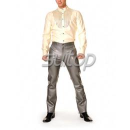 Wholesale latex clothes men - men 's latex rubber shirt clothes garment