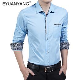 df8062996836 2018 herren langarm blüht hemden EYUANYANG Shirt Männer Long Sleeves Mens  Dress Shirts camisa masculina Frühling