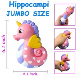 Wholesale Universal Children - Squishy Cute Sea Horse Scented Cream Slow Rising Squeeze Decompression Toys For Children Adults Relieves Stress Anxiety