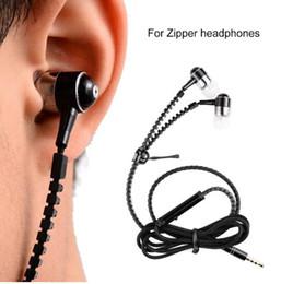 Wholesale Waterproof Mp3 Bluetooth Headphones - New Microphone Mic Earbuds Premium 3.5mm Tangle Free Zipper Headphone Headphone mp3 waterproof bluetooth headset