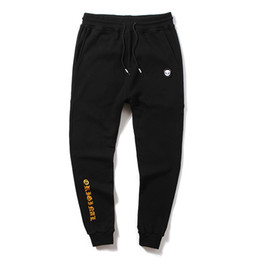Nuevos tipos de pantalones de hombre online-streetwear black men printing Quién es pantalones moda al aire libre turismo ocio Movimiento de tipo suelto Little feet pants El nuevo estilo