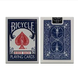 Wholesale bicycle play cards - Wholesale- Bicycle Poker 1 pcs price Blue or Red Bicycle Regular Playing Cards Rider Back 808&Standard Sealed Decks Bicycle Poker GYH
