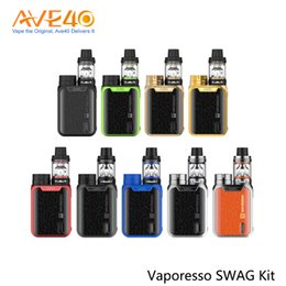 Wholesale max gold black - Vaporesso Swag Starter Kit 510 Thread 80w Max Out Put with 3.5ml NRG SE Tank 100% Original