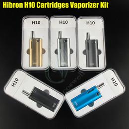 Wholesale Green Co2 - Original Hibron H10 Starter Kit 650mAh 10W Box Mod Upgraded Thick Oil CE3 BUD CO2 0.8ml Cartridges Atomizer O pen Mystica Vaporizer vape
