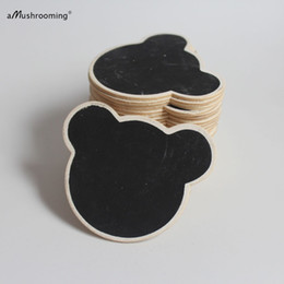 Wholesale bears board - Personalized Board Tags Rustic Mini Chalkboards Custom Wooden Labels - Rustic Weddings Party Favor Gift Tags Bear Cloud Heart