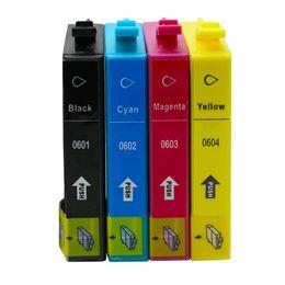 4x Sostituzione per cartucce d'inchiostro Epson T0601 T0602 T0603 T0604 Pennino per vernici Stylus CX3800 CX3810 CX4200 CX4800 CX5800F CX7800 Inkjet da