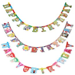 Wholesale Flag Items - Wholesale- Magic Cartoon Flags Hang Flags Children's Birthday Party Decor Items Festival Decoration Event Party Supplies Banderas JJ110