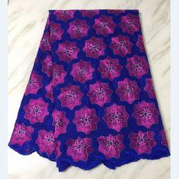 grande laço africano branco Desconto Bordado de flores de tecido de algodão muito suíço bordado com strass tissu africain brode coton tecido de brocado nigeriano para o vestido