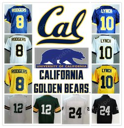 Wholesale desean jackson - NEW NCAA California Golden Bears College Marshawn Lynch 10 Aaron Rodgers 8 17 DeSean Jackson STITCHED JERSEY FOOTBALL 2018 TOP