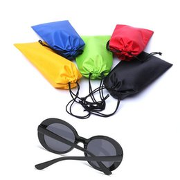 impermeable relojes de colores Rebajas Gafas de sol de colores Bolsa de polvo Bolsa de gafas de sol a prueba de agua Con cordón portátil Gafas Casos Reloj de bolsillo Bolsa de transporte