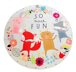 Wholesale Large Round Rugs - Kids Baby Play Mats Toys Storage Bag Round Carpet Rugs Large Canvas rawling Mat Carpet Portable Canvas kids Toys Sundries Pouch 28 Styles