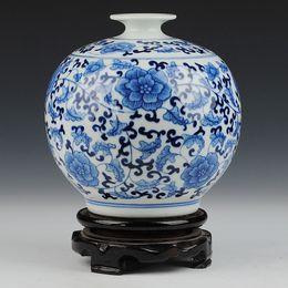 Wholesale Porcelain Blue Ceramic Vases - Ceramics blue and white porcelain glaze pomegranate vase decoration fashion home decoration crafts