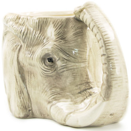 Wholesale Wild Wolf - 1Piece Wildlife Animal Coffee Mug Wild Wolf Adventure 3D Elephant Mug Ceramic Elephant Cup Adorable Office