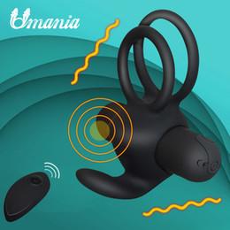 stimolanti del sesso maschile Sconti Super potente pene del pene anelli di silicone vibrante telecomando per maschio / coppie giocattoli adulti del sesso vibratore stimolatore clitorideo Y18100701