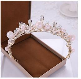 immagini del vestito da cerimonia nuziale coreano Sconti Ornamento di corona nuziale di cristallo, corona fatta a mano coreana, accessori del vestito da sposa, vendite dirette della fabbrica, colore come le immagini.