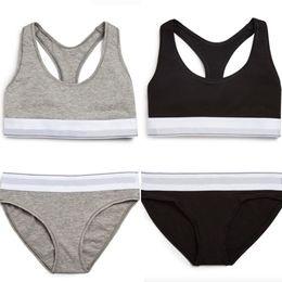 Wholesale Bikinis For Women Brand - Famous Brand Women Bra+Briefs Underwear Sets High Quality Cotton Normal Panties Seamless Sexy Bra+Bikini Suit Underpants for Girls