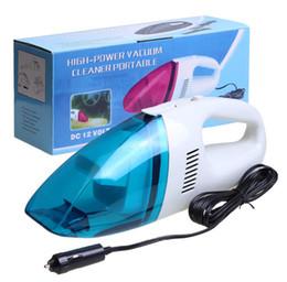 Wholesale 12v Portable Vacuum - 2018 Auto Accessories Portable 5M 120W 12V mini Car Vacuum Cleaner Handheld Mini Super Suction Wet And Dry Dual Use Vaccum Cleaner
