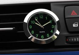 Wholesale auto vents - Automobile Quartz Clock Car Decoration Watch Ornaments Vehicle Auto Interior Watch Digital Pointer Air Conditioning Outlet Clip airvent Vent