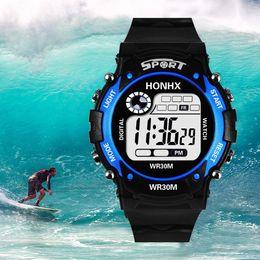 Аналоговые часы с несколькими тревогами онлайн-Fashion Mens Digital LED Analog Quartz Alarm Date Sports Multi Colors Fashion Representative of the world Wrist Watch