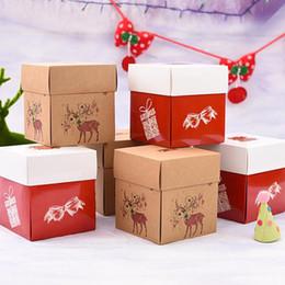 2019 weihnachtsnahrungsmittelpakete 12,5x12,5x14 cm Weihnachtsgeschenkbox Lebensmittel Kuchen Keks Verpackung Box Pralinenschachtel Party Holiday Supplies QW8969 günstig weihnachtsnahrungsmittelpakete