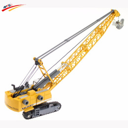 Wholesale Toy Buses For Kids - Alloy Diecast 1:87 Crawler Tower Cable Excavator Diecast Model Engineering Vehicle Tower Crane Collection Gift for Kids Toy