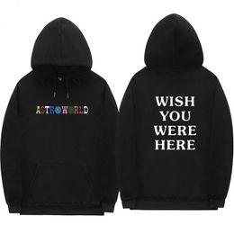 assassins creed vêtements noirs Promotion Travis Scott Astroworld VEUILLEZ VOUS ARRIVER ICI hoodies streetwear homme et femme pull sweat-shirt W2089