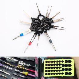 Conector de agulha on-line-11 Pçs / set Ferramentas de Remoção Terminal Do Carro Fiação Elétrica Crimp Conector Extrator Pin Kit Voltar Agulha Remover Ferramenta Conjunto de Reparação de Pneus