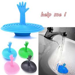 Wholesale Hand Sinks - Hand Shape Sink Plug Creative Sink Plug Water Plug Bathroom Practical Accessories