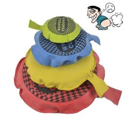 Wholesale fun pranks - 9cm 16cm April Fool Day Kids Fun Prank Toys Whoopee Cushion Joke Gags Pranks Maker Tricks Funny Toys Fart Pad Pillow CCA8870 1000pcs