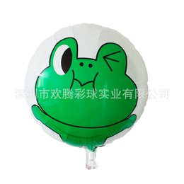 "Wholesale Inflatable Ornament - 18"" Foil Inflatable Balloons Frog Ball Toy for Kid Happy Birthday Party Decoration Promotional Gift Baby Shower Ornament 50p"