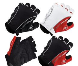Guantes de almohadilla online-Guantes de ciclismo medio dedo GEL Pad guantes de bicicleta antideslizante antideslizante suave transpirable Lycra Guantes Ciclismo deportes Mountain Bike Gloves