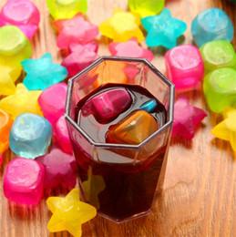 ghiaccio di plastica Sconti 6 pz / pacco cubetti di ghiaccio di plastica a forma di frutta riutilizzabile di plastica multicolore freddo freddo bicchieri bar barbecue party bar strumenti I192