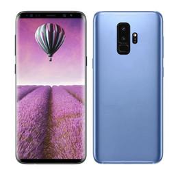 Wholesale Gps Full - ERQIYU Goophone 9 plus Fingerprint 6.2 inch full screen 16.0MP Smartphones shown 4G LTE 4G RAM 128GB ROM Unlocked Cell phones